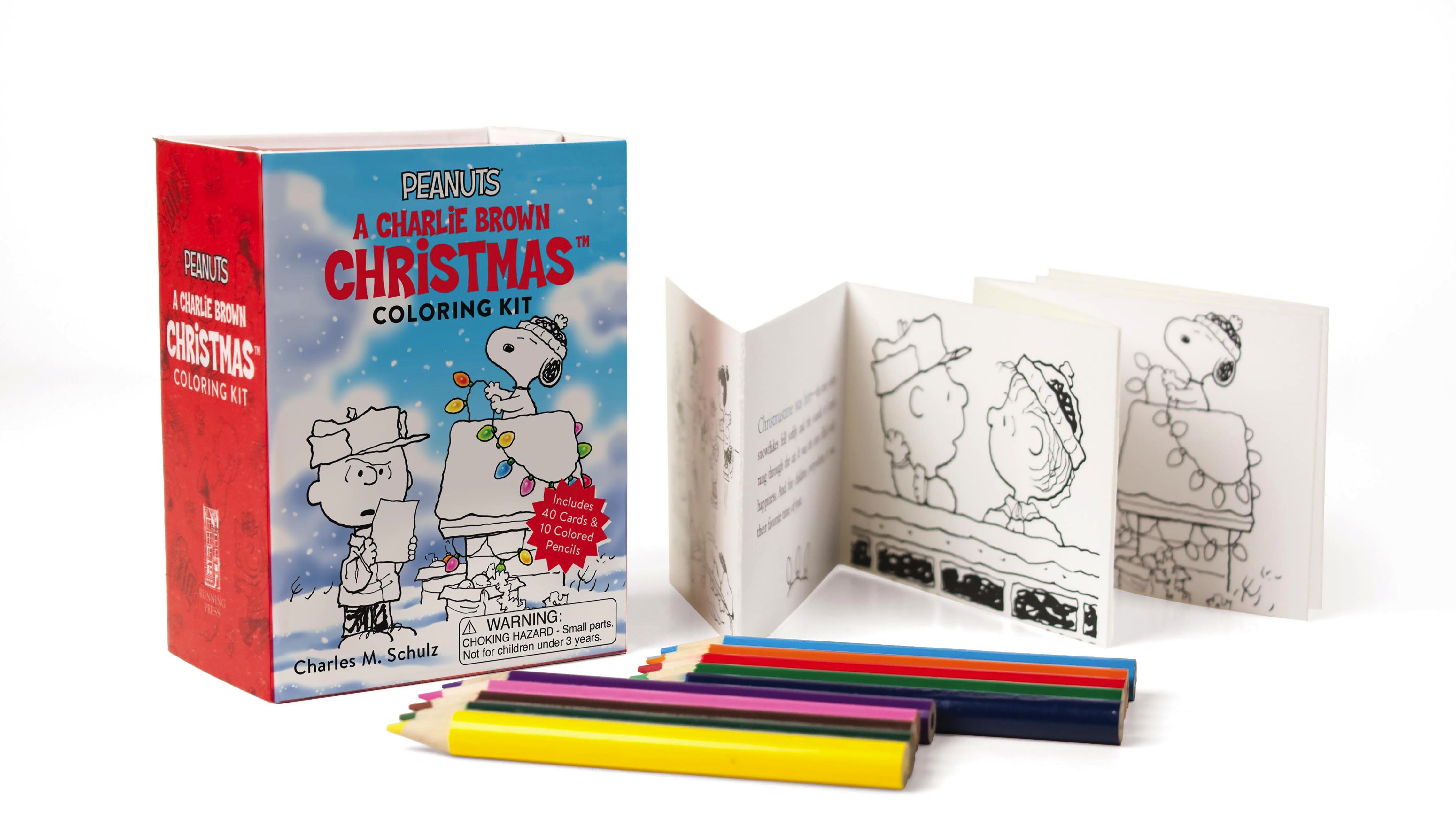 Peanuts A Charlie Brown Christmas Coloring Kit By Charles M Schulz Running Press