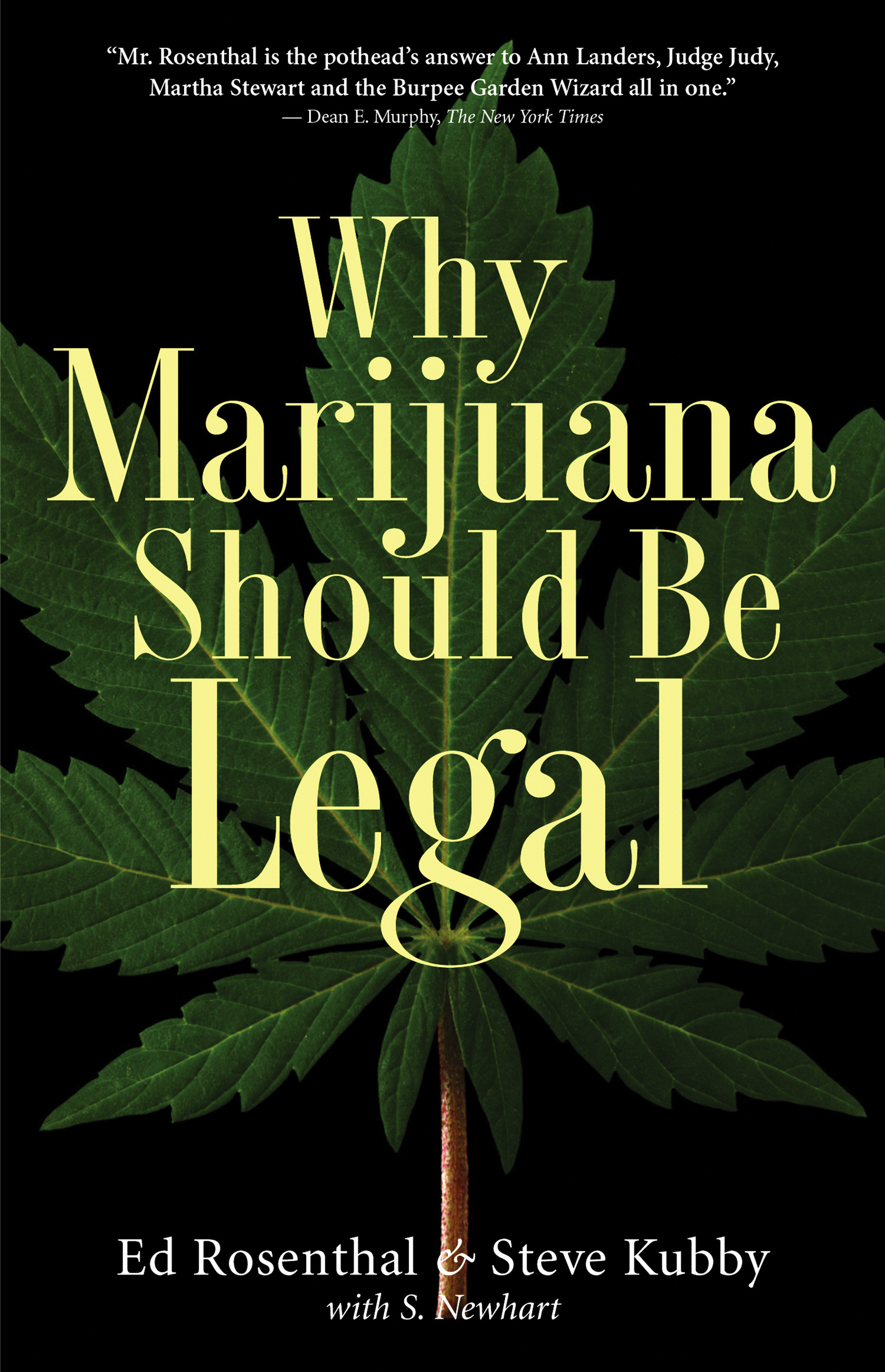 the reasons why we should consider legalizing marijuana Because of the recent focus on marijuana legalization, many people are looking back to why cannabis was criminalized in the first place contrary to popular belief, the reason marijuana was made illegal had nothing to do with health issues.