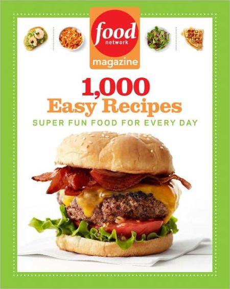 Cookbooks running press food network magazine 1000 easy recipes forumfinder Gallery