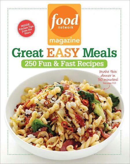 Cookbooks running press food network magazine great easy meals forumfinder Gallery